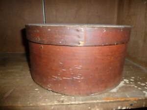 Antique Primitive Early Red Pantry Box Aafa