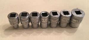 Sk Tools 1 4 Drive 7 Piece Sae Shallow 6 Point Socket Set 3 16 7 16