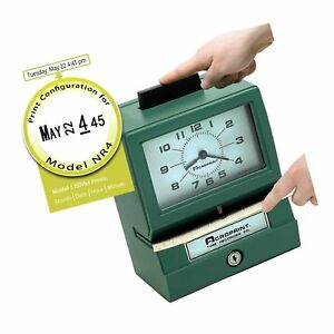 Acroprint Bp125 6nr4 Heavy Duty Manual Battery Operated Time Recorder For Month