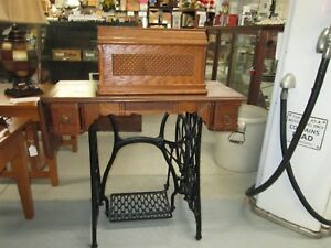 Rare Antique 1800 S Singer Treadle Sewing Machine With Cabinet