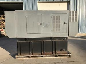 __50 Kw Generac Generator Set Base Fuel Tank 3 Phase 12 Lead Sound Attenu