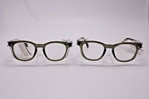 Lot 2 Vtg Ao Safety Eye Glasses F9800 Medium Z87 2 Nwt 145 Black Charcoal Punk
