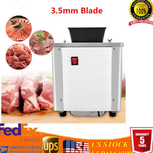 110v Commercial Grade Cutter Meat Machine With 3 5mm Stainless Steel Blade Usa