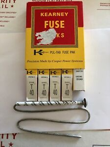 Five 5 New Kearney Fuse Links 51040 T40 With Free Shipping