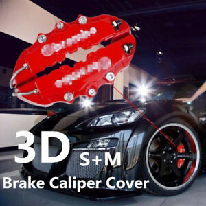 3d Brake Caliper Cover Kits Red Universal Style Disc Front And Rear Lw07 4 Pcs