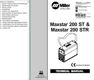 Miller Maxstar 200 St Str Service Technical Manual