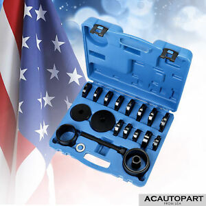 Fwd Front Wheel Drive Bearing Removal Adapter Tool Puller Pulley Kit 23pcs