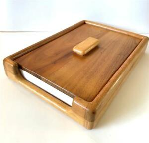 Vintage Oak Desk File Tray Organizer With Lid Letter And Legal In