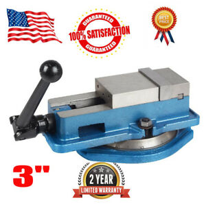 3 Accurate Lock Vise Precision Milling Drilling Machine Bench Clamp Vice W Ba