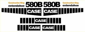 New Case 580b Loader Backhoe Extendahoe Decal Sticker Set Decals