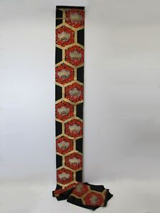 Vintage Japanese Embroidery Large Scroll D9379