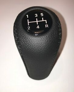 New Gear Shift Knob Fits For Ford Mustang 1979 2004 5 Speed Genuine Leather
