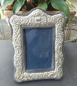 Vintage 1960 S Rc Sterling Silver Repousse Victorian Picture Frame 5 5 X 4