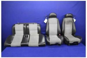 2003 2004 Ford Mustang Cobra Svt Oem Black Leather Suede Coupe Seats