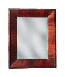 Antique Mahogany Picture Frame With Mirror Circa 1840 16 1 8 X 13 Overall