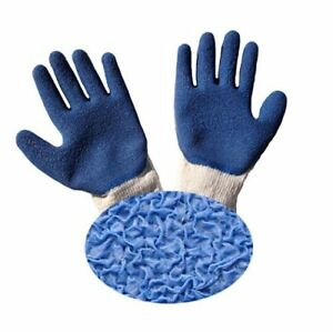 G F 1511l 10 Rubber Latex Coated Work Gloves For Construction Blue Crinkle P