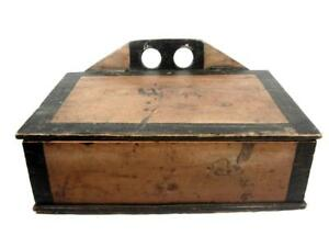 Antique 19thc Lap Desk Or Wall Box Aafa Orig Paint Primitive Folk Art