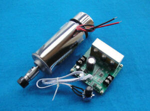 Dc 12 48v 400w Air Cooled Spindle Motor mach3 Speed Controller Engraving Milling