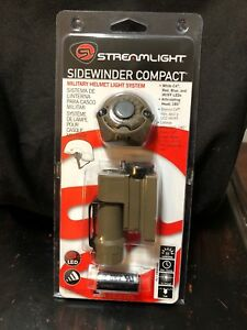 Streamlight Tactical Military Sidewinder Compact LED Helmet Light System 141022
