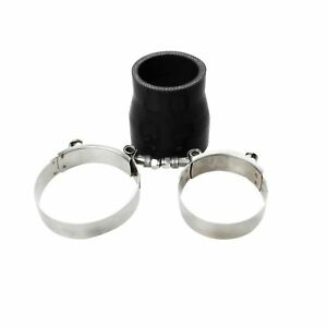 2 5 To 3 Straight Reducer Silicone Turbo Hose Coupler 63 76mm Black T Clamp