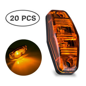 20pcs 2 5 Amber Led Side Marker Lights Offroad Clearance For Car Truck Rv Suv