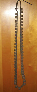 Antique Christmas Graduated Horse Sleigh Bells 54 Bells On One Strap Very Rare