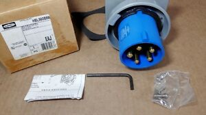 New Hubbell Hbl560b9w Circular Connector Watertight Inlet Pin Sleeve 4p 5wire