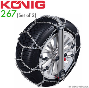 New Konig Easy Fit Suv 267 Snow Chains 265 75 16 70 17 55 19 50 20 245 75 17