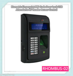 Fingerprint Pin Code Door Lock Usb Attendance Rf Reader Access Control Biometric