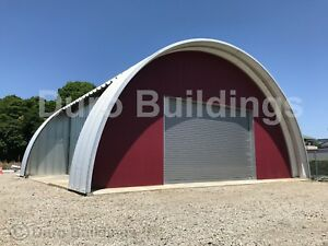 Durospan Steel 42x74x17 Metal Quonset Barn Building Kit Open Ends Factory Direct