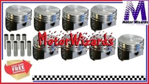 Chevy 396 375hp Bbc V8 Speed Pro L2242nf40 Forged Pistons 8 pack 38cc Dome 040