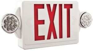 Lithonia Lighting Quantum 2 Light Led Commercial Emergency Exit Sign fixture
