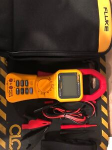 Fluke 355 Trms 2000a Ac dc Clamp Meter Volts Amps Resist Cont With Calib