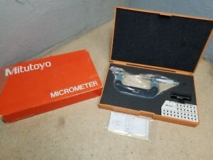 New Mitutoyo 50 75mm 0 01mm screw Thread Pitch Micrometer Without Anvils