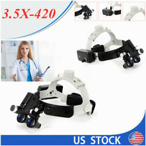 Led Dental Surgical Optic Headlight Lamp 3 5x420mm Headband Loupes Light Dy 106