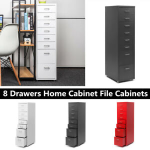 Ikayaa Metal 8 Drawers Home Cabinet Detachable Mobile Steel File Cabinets R9j0