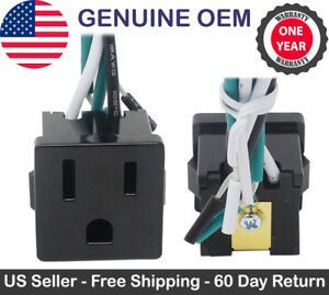 Zing Ear Ze 3b 2 Receptacle Power Outlet Plug Snap in 3 Prong 15a 10a Black