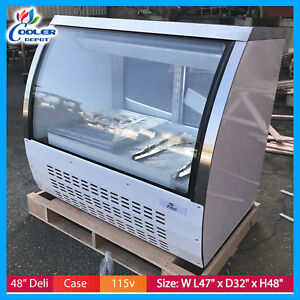 48 Commercial Deli Bakery Pastry Cooler Case Display Fridge Dc120 Nsf New