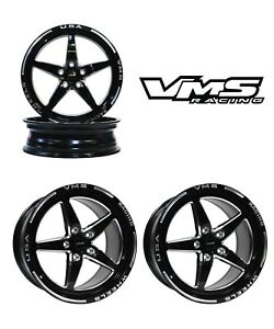 Vms Racing Star 5 Spoke Drag Rims Wheels R 17x10 F 18x5 For 04 11 Mazda Rx8