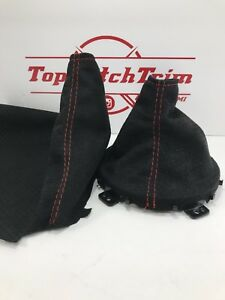 Fits 13 16 Subaru Brz Scion Frs Toyota Gt86 Black Perf Suede Shift Brake Boots