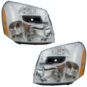 Pair Of 05 09 Chevy Equinox Headlights Headlamps Head Light Lamp Left right