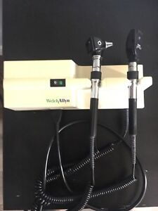 Welch Allyn Otoscope 25020a Ophthalmoscope 11600 And 767 Wall Transformer