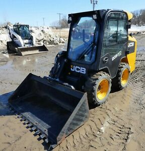 2015 Jcb 205 Eco Skidsteer Loader Heat ac Hyd Quick Attach Only 270 Hrs