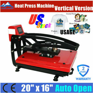 Us Stock 16 X 20 Auto Open T shirt Heat Press Machine With Slide Out Style