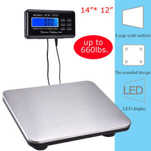 Digital Shipping Postal Scale Weight 660lbs X 1oz 300kg Weigh Platform Adapter