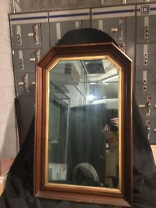 Antique Victorian Walnut Wall Mirror