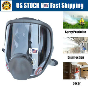 Upgrade Full Face Dust Gas Mask Painting Spraying Facepiece Respirator For 6800