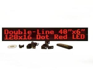 Two Line Indoor Red Led Programmable Display Sign full Package 40 x6
