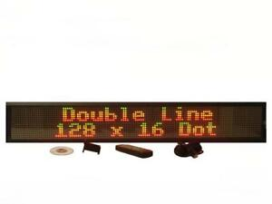 Two Line Indoor Tricolor Led Programmable Display Sign full Package 40 x6