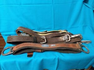 Klein Tools Model 5447 Medium Size Lineman s Safety Harness Belt Leather s